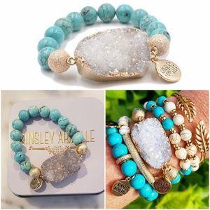 Kinsley Armelle Aqua Marine Bracelet